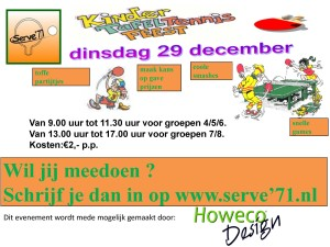 Kindertafeltennisfeest