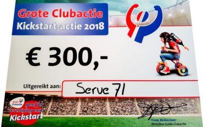 Serve'71 heeft €300,- gewonnen!